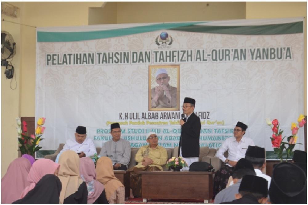 Prodi Ilmu Al-Quran Tafsir IAIN Salatiga Undang K.H Arwani Al-Hafidz,  Adakan Pelatihan Tahsin dan Tahfidz Yanbu'a